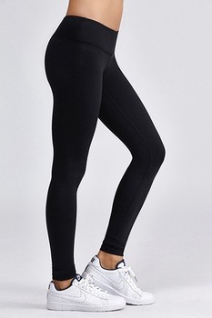 b3813c48632 Best Comfort 86% Nylon 14% Elastane Mid-Rise Ankle Length Thick Black  Leggings