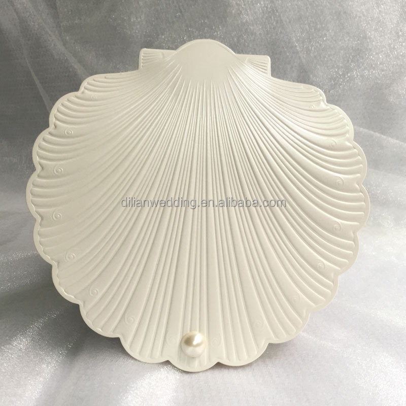 Beautiful Sea Shell Shape Beach Invitation Wedding