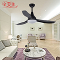 "Modern American Style Restaurant 3 Leaves 56""Remote Control White Ceiling Fan with 12W Light"