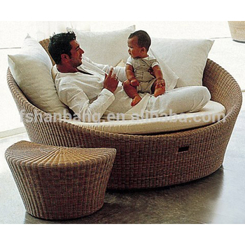 Outdoor Round Chaise Lounge Chair