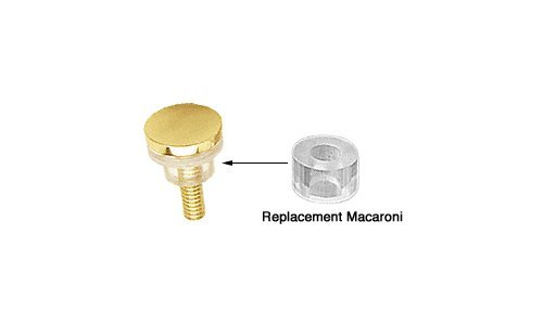 """C.R. LAURENCE HW059 CRL Clear 1/2"""" O.D Replacement Macaroni for 3/4"""" Standoffs (10 Pack)"""