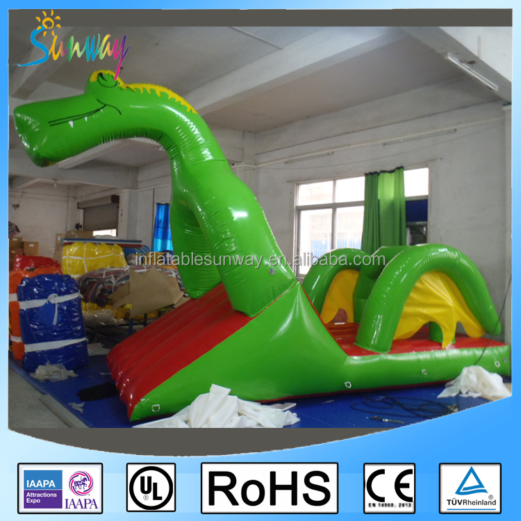 Giant Airtight Dragon Inflatable Floating Water Slide