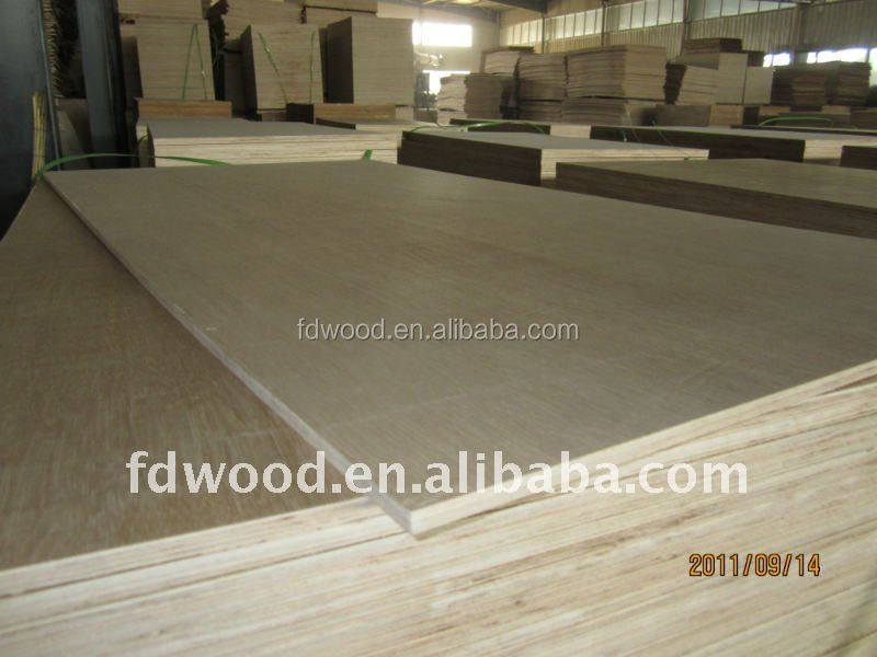 18mm Hardwood face Two times Hot Press Plywood price for Furniture