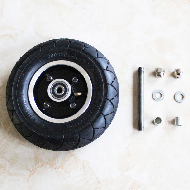 200x50 Electric Scooter Tire Pocket Bike Front Wheel Assembly