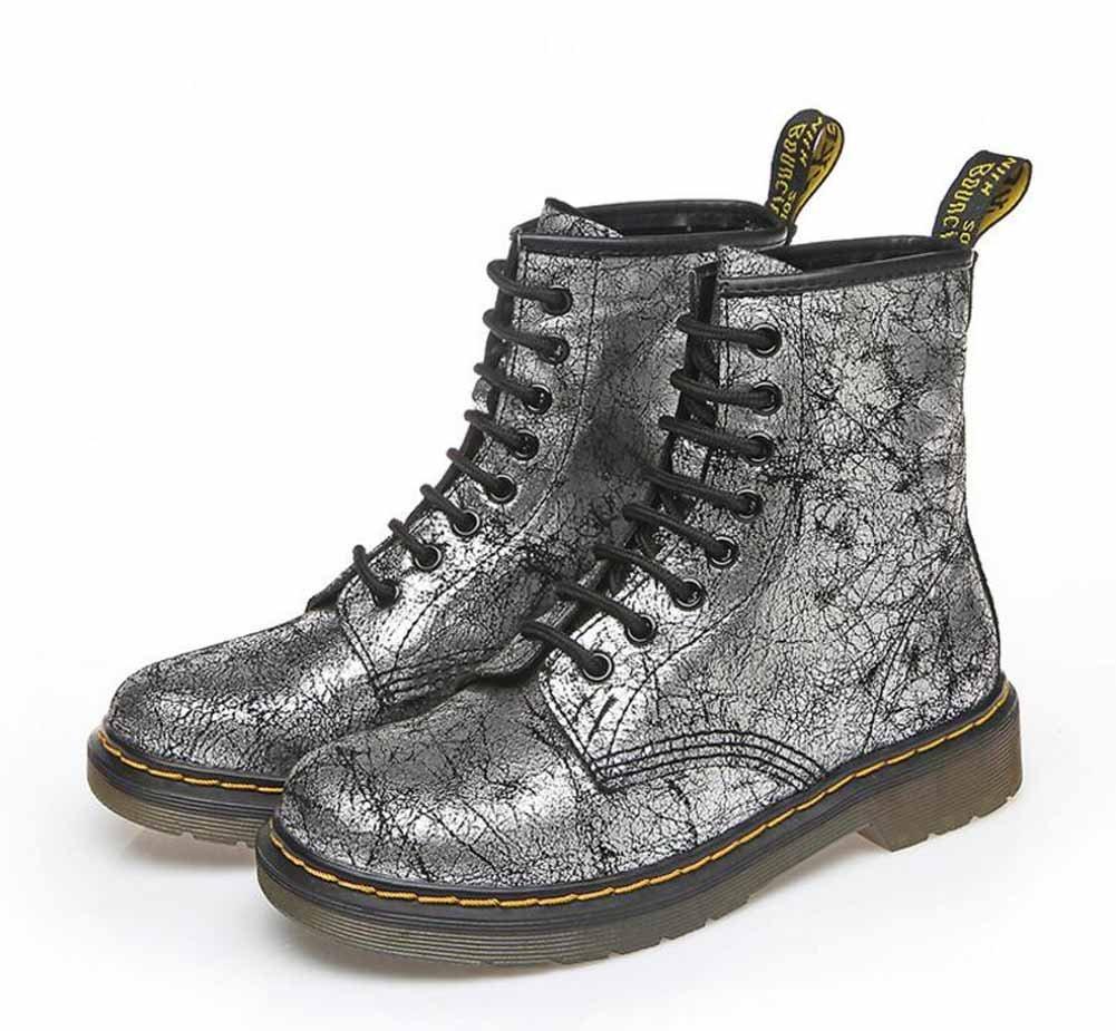7d5632c6da33 Get Quotations · Women Martin Boots England 8 Hole Leather Ankle Boots  Autumn Retro Lace Up Boots Grau