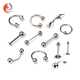 Surgical steel fake barbell industrial Basic piercing jewelry