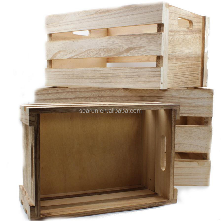 Wooden crates wholesale fabulous black wood crate with for Vintage crates cheap