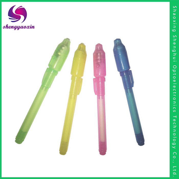Promotional Cheap Gifts Uv Light Invisible Ink Pen