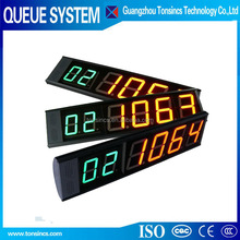 wired /wireless queue management system digtal led screen manufacturer number display