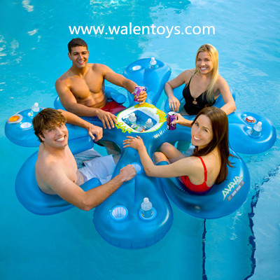 Inflatable Floating Island Raft 4 Person River Lake Ocean
