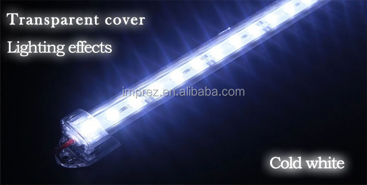 DC12V SMD 5630 LED Hard Rigid Strip Bar Light Aluminium shell +pc cover LED Bar Light 5730