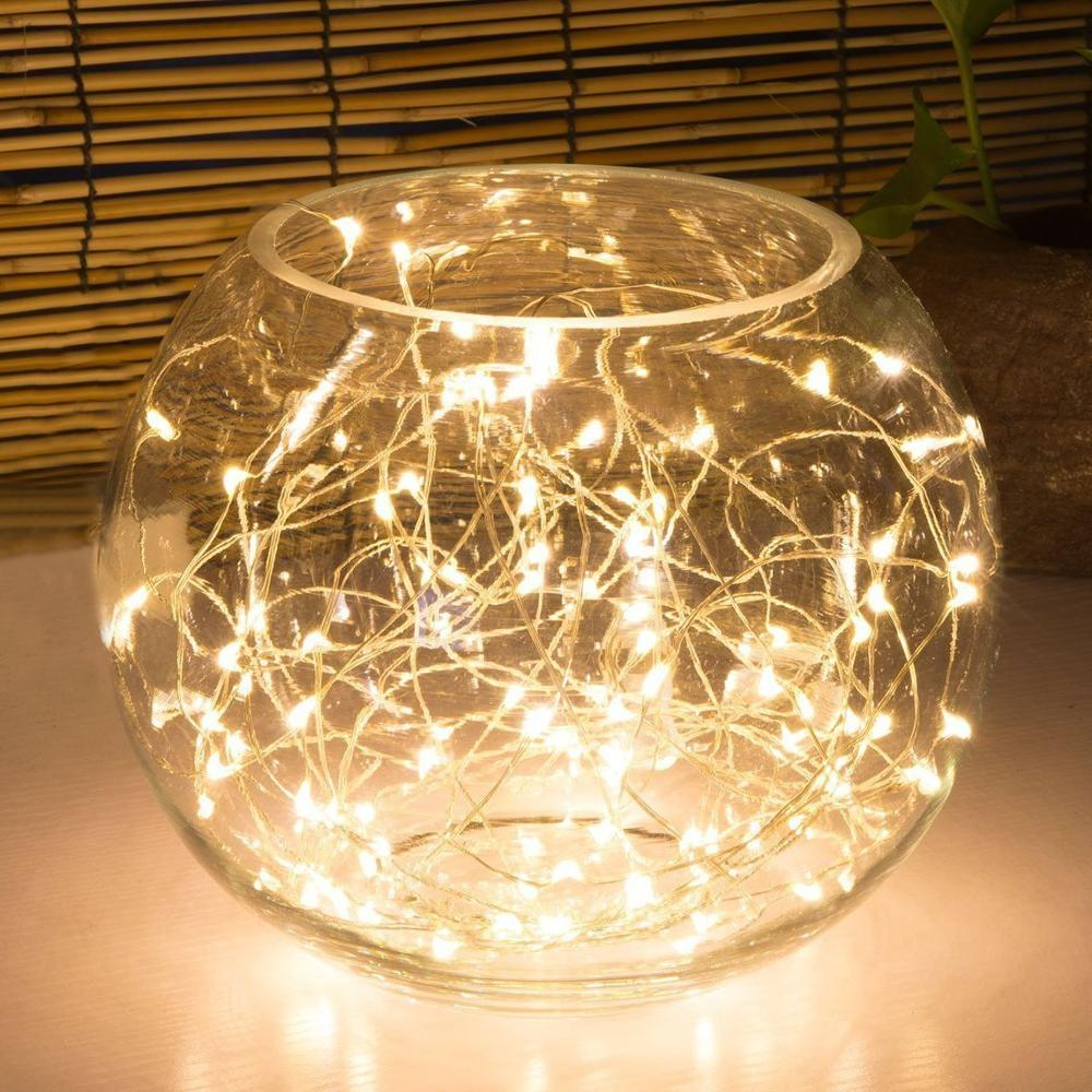 Party decoration Micro Copper Led Seed Vine Vase Lights Wedding Centerpiece Fairy String Light 2m  Christmas