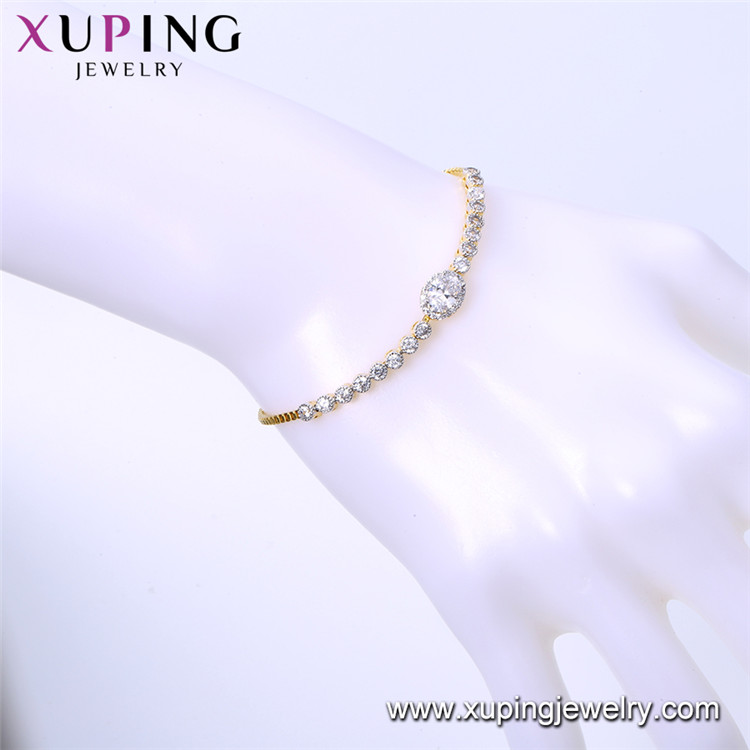 75291 Xuping women fashion bracelet, jewelry customizable design rural style micro cz  pave bracelet