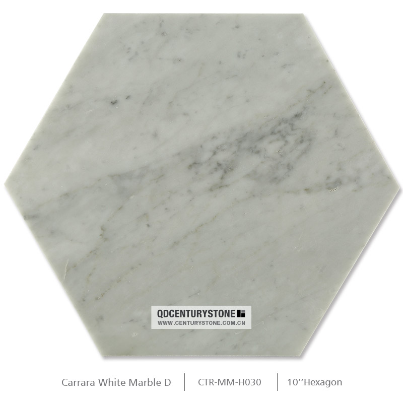 New floor tile design 10 inch hexagon mosaic white carrara for 10 inch floor tiles