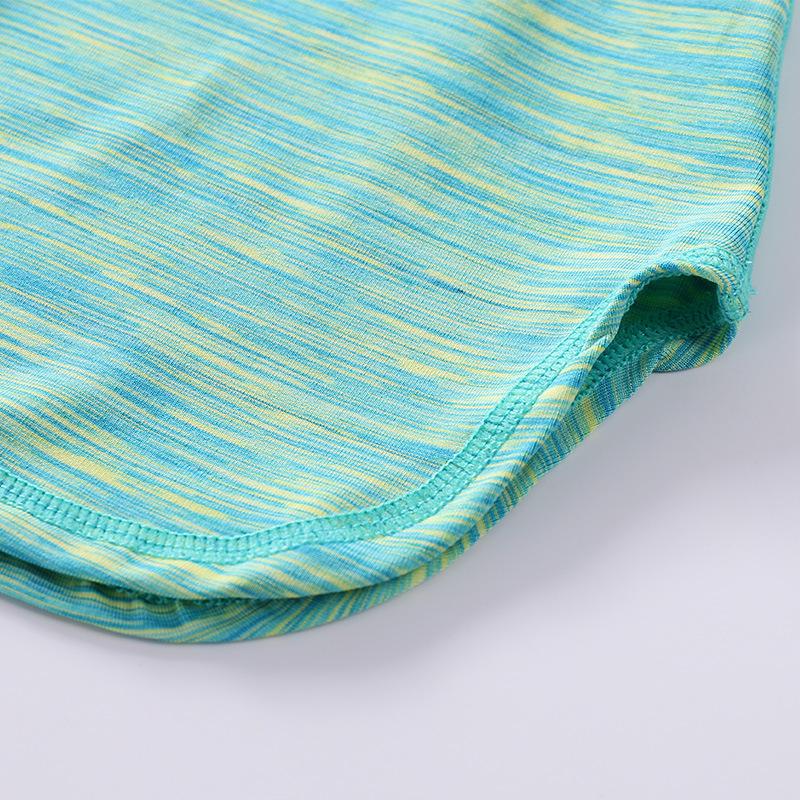Polyester-Spandex-short-Sleeve-sexy-yoga-Custom