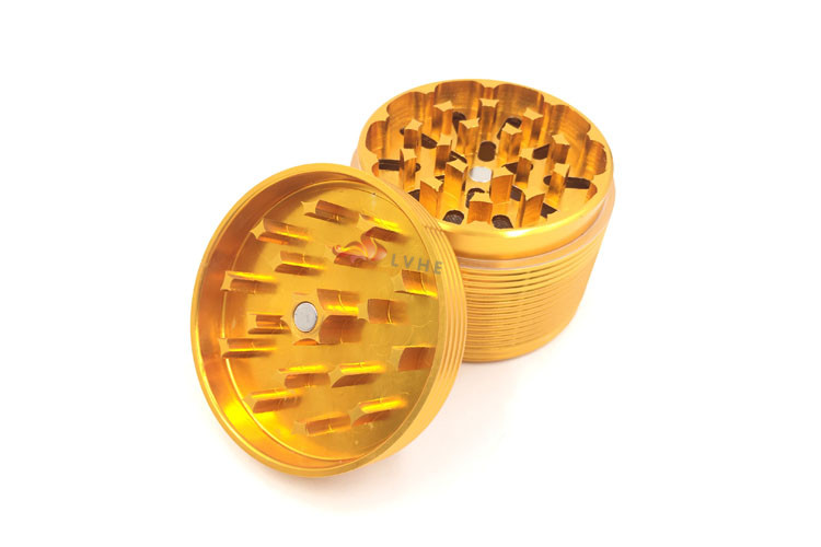 T010GA Tolly Alibaba China Market Tobacco Grinder Aluminum Gold Grinder for Herbs