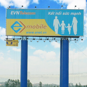 Monopole Stand large Advertising Tri-vision Billboard