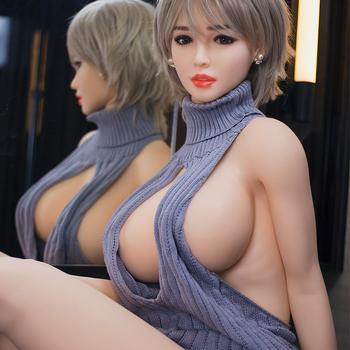Silicone realistic men sex doll adult metal skeleton big boob love toy