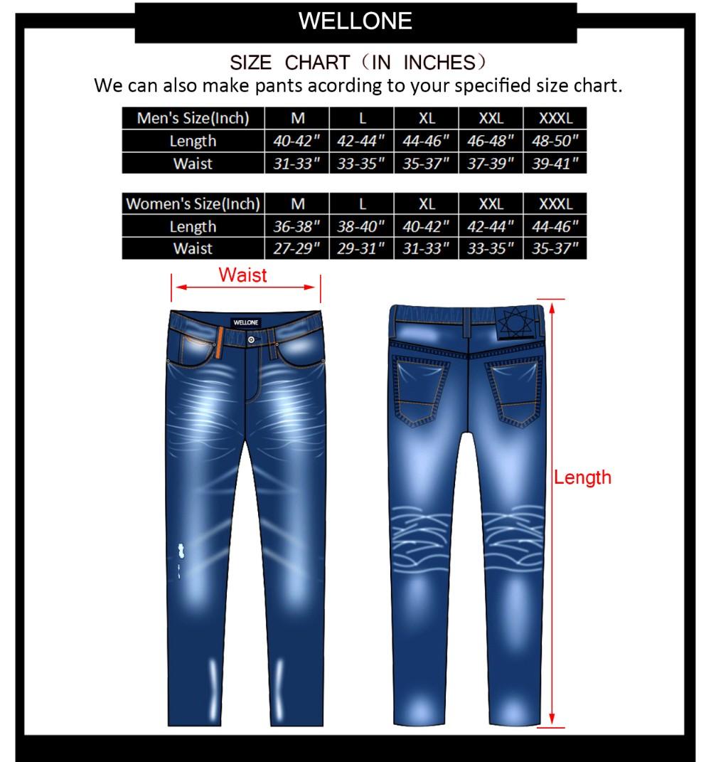 Guangzhou Factory Oem Brand Logo None Wash Plain Blank Denim Pants Trousers Cotton Custom Men Just