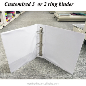 Spring binder office file organizer customized printing A4 letter size PVC 3 ring binder