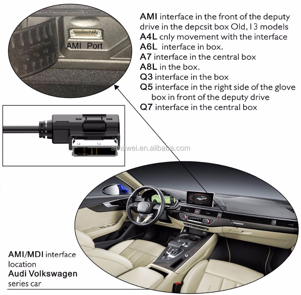Audi 3rca Audio Video Cable,Sinloon Ami Mmi To 3rca Female Dvd Video And  Audio Input Cable For Audi A1 A7 A8 - Buy Ami Mdi Mmi Rca Cable,Ami Rca  Cable