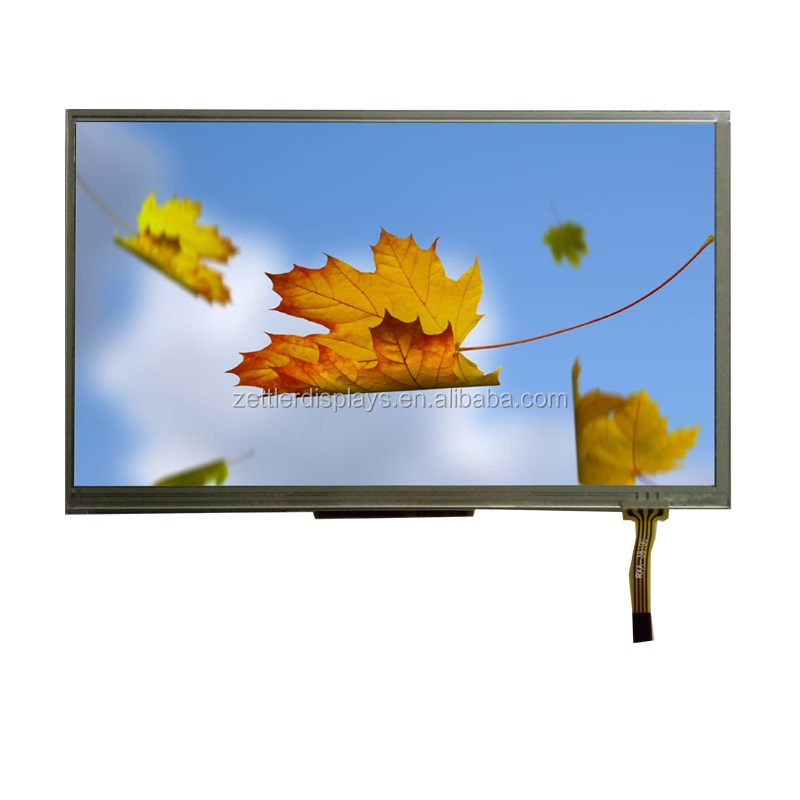 7 inch tft monitor 800x480 resolution with LVDS interface and resistive touch panel