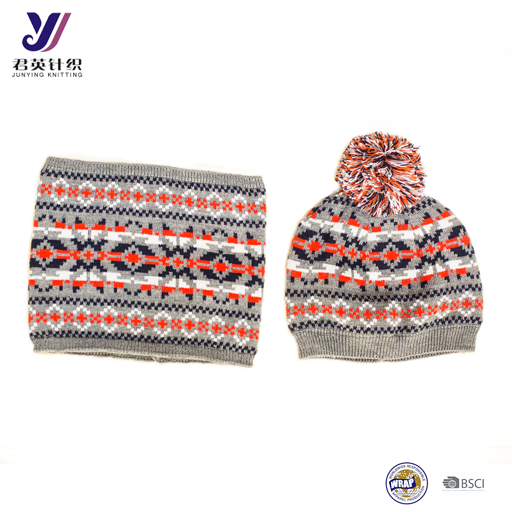 Wholesale Cotton Knitted Scarf Hat Gloves Baby Winter Warm Set factory sales (can be customized)