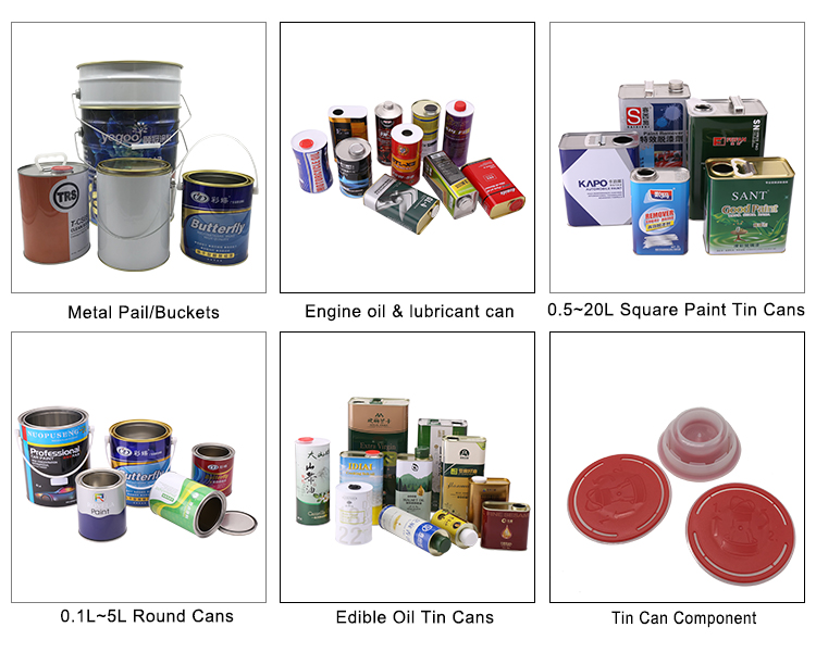 Rectangle Engine Oil Metal Tin Can Containers For Gasoline Engine Oil