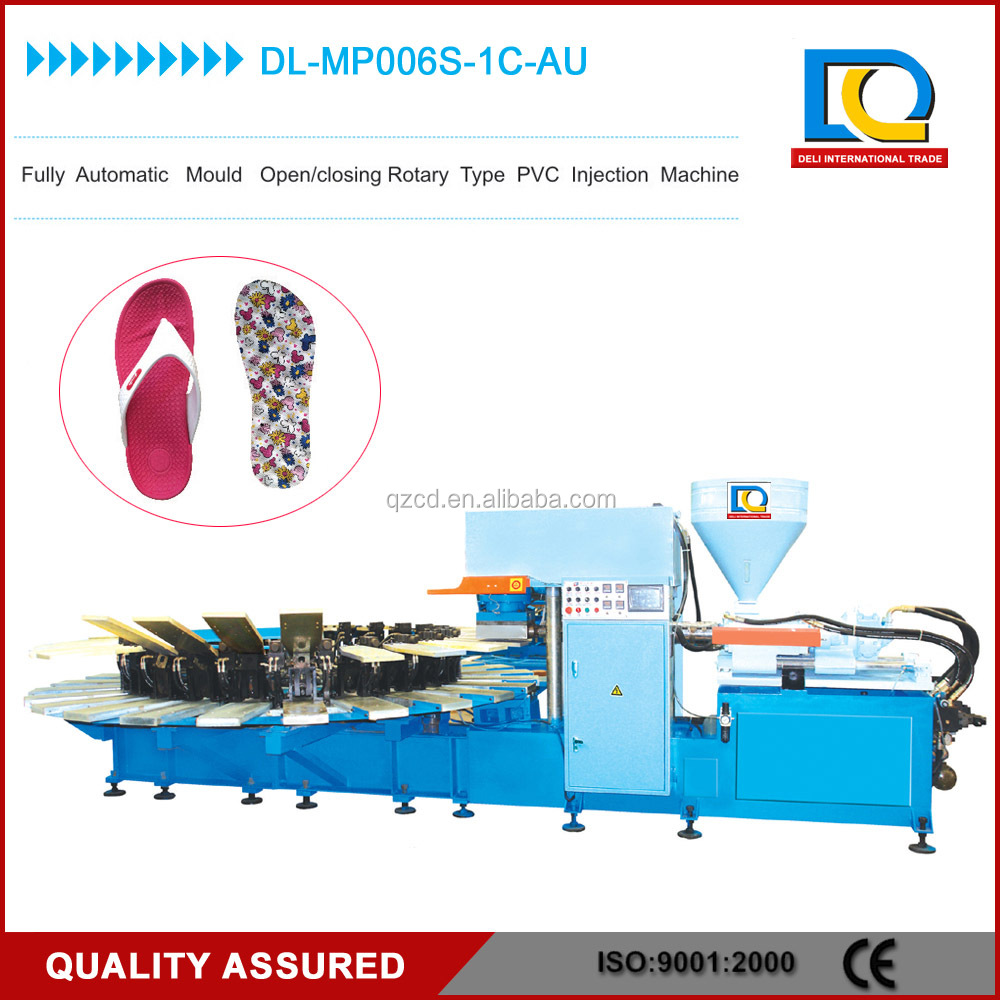 Automatic rotary PVC shoes injection moulding machine PVC sole making machine