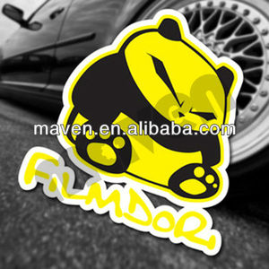 Quality Maven PVC Adhesive Waterproof JDM Panda Graffiti Vinyl Car Sticker For Windshield