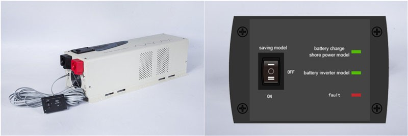 Low Frequency DC/AC Inverters Type and Single Output Type Pure Sine Wave Off Grid Power Inverter & charger 6000W