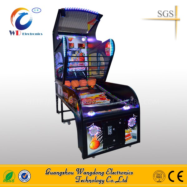 school sports indoor basketball game machine/best sell arcade basketball game for chirdren