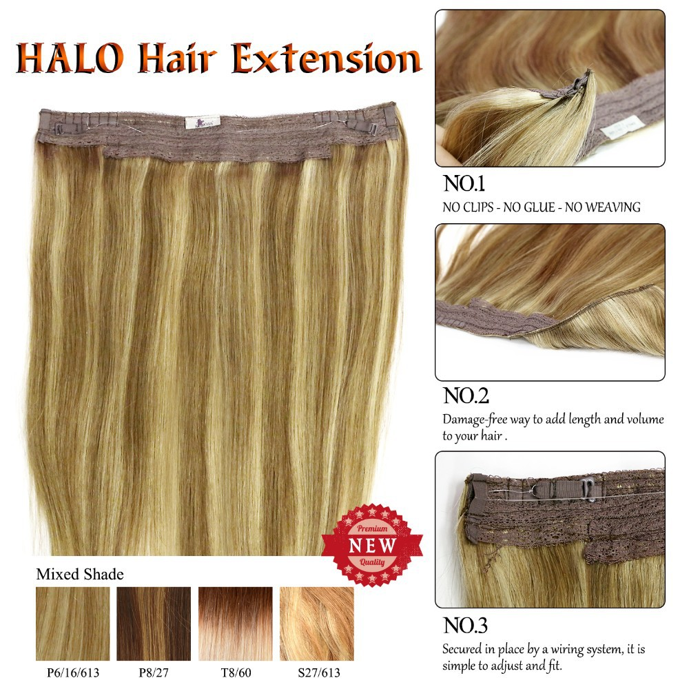 Ks Wigs 2015 New Wholesale Price Halo Human Hair Extensions 20 P6