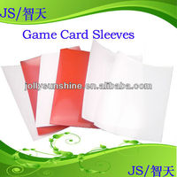 card protector stock color Red or white sleeves, 1c textured card sleeves for trading card or game card, Dongguan factory
