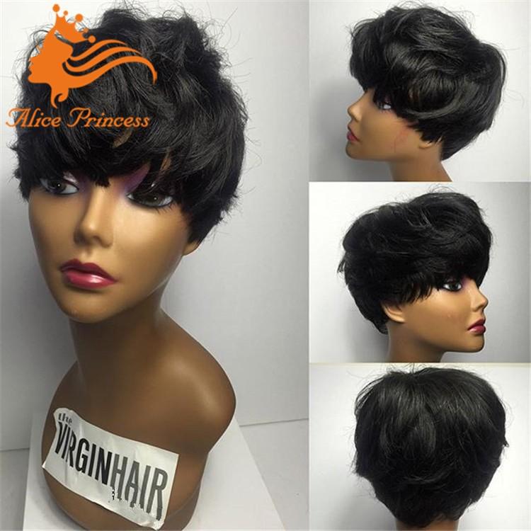 Natural Looking Wave Hair Wigs Cheap Short Bob Virgin Brazilian Human ...