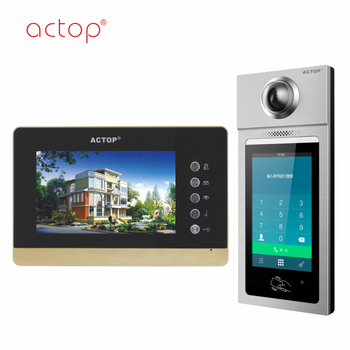 Manufacturer ACTOP TCP IP protocol smart apartment building intercom