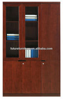 2014 South Korea Market Wooden Antique Glass Door Handleless Filling Cabinet