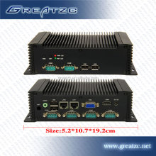 ZC-G26DL Fanless PC ATOM N2600 CPU Mini Industrial PC Dual Nic,Fanless Computer With 2 Ethernet Lan Ports