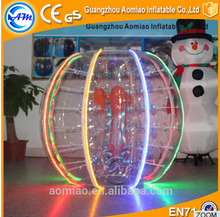 Factory price LED adult zorb ball human inflatable bumper bubble ball