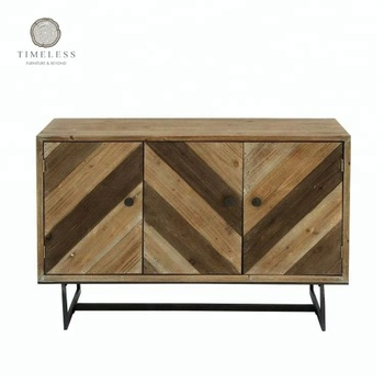 Altholz Mit Metallrahmen 3 Tür Sideboard Buy Holz Metall Sideboard