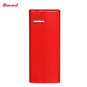 Smad Red Color Vintage Refrigerator And Freezer Home Refrigerator