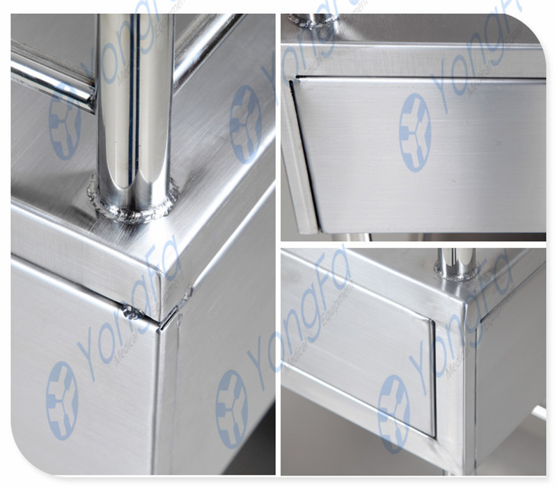 YFQ203 Factory Outlet Hospital Stainless Steel Treatment Trolley