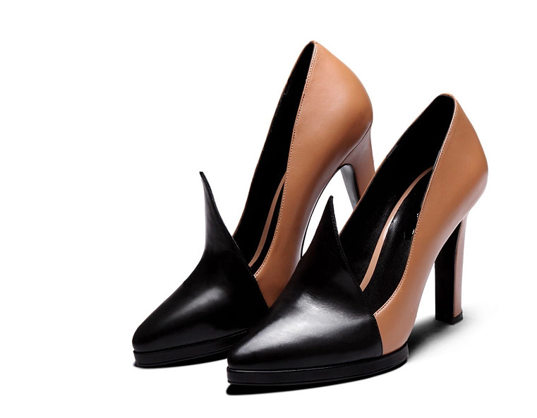 6eb6358fbd0f Get Quotations · 2015 spring shoes Women high heel shoes Sexy Lady Pumps  Genuine Leather Pumps All occasion shoes