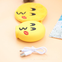 Hot sell best funny yellow emoji expression smart slim mobile power bank
