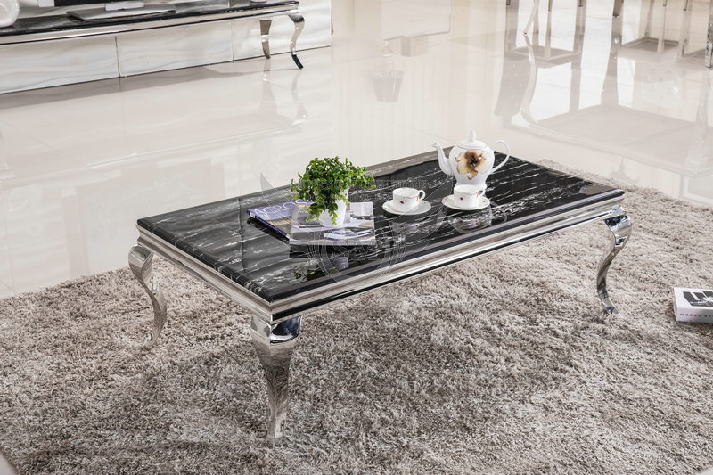 Indian Black Arc Style Leg Travertine Marble Coffee Table, Marble Center  Table
