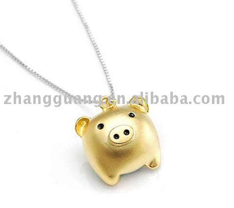Fashion cute golden pig necklace buy necklacefashion necklace fashion cute golden pig necklace buy necklacefashion necklacehandmade product on alibaba mozeypictures Gallery