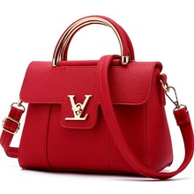 Online Wholesale Branded Luxury High Quality PU Leather Women Shoulder Bag Women Tote Hand Bag Lady Handbag Designing Bags