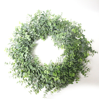 New fashion best sellers real looking popular home garden artificial eucalyptus leaf wedding green wreaths door spring wreath