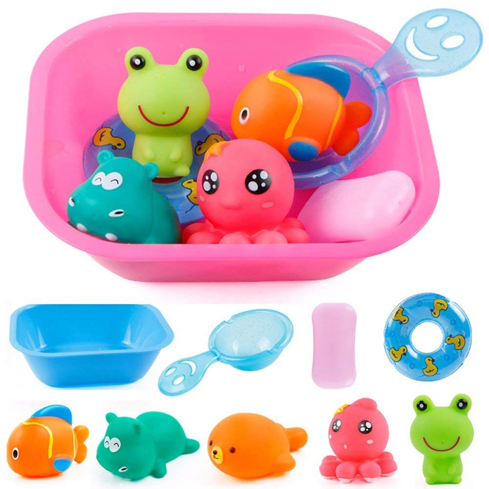 Cute Lovely Plastic Bath Toy Octopus Swimming Water Leaking Float Bathing Shower Toys Kids Children Child Present Gift Toys & Hobbies Classic Toys