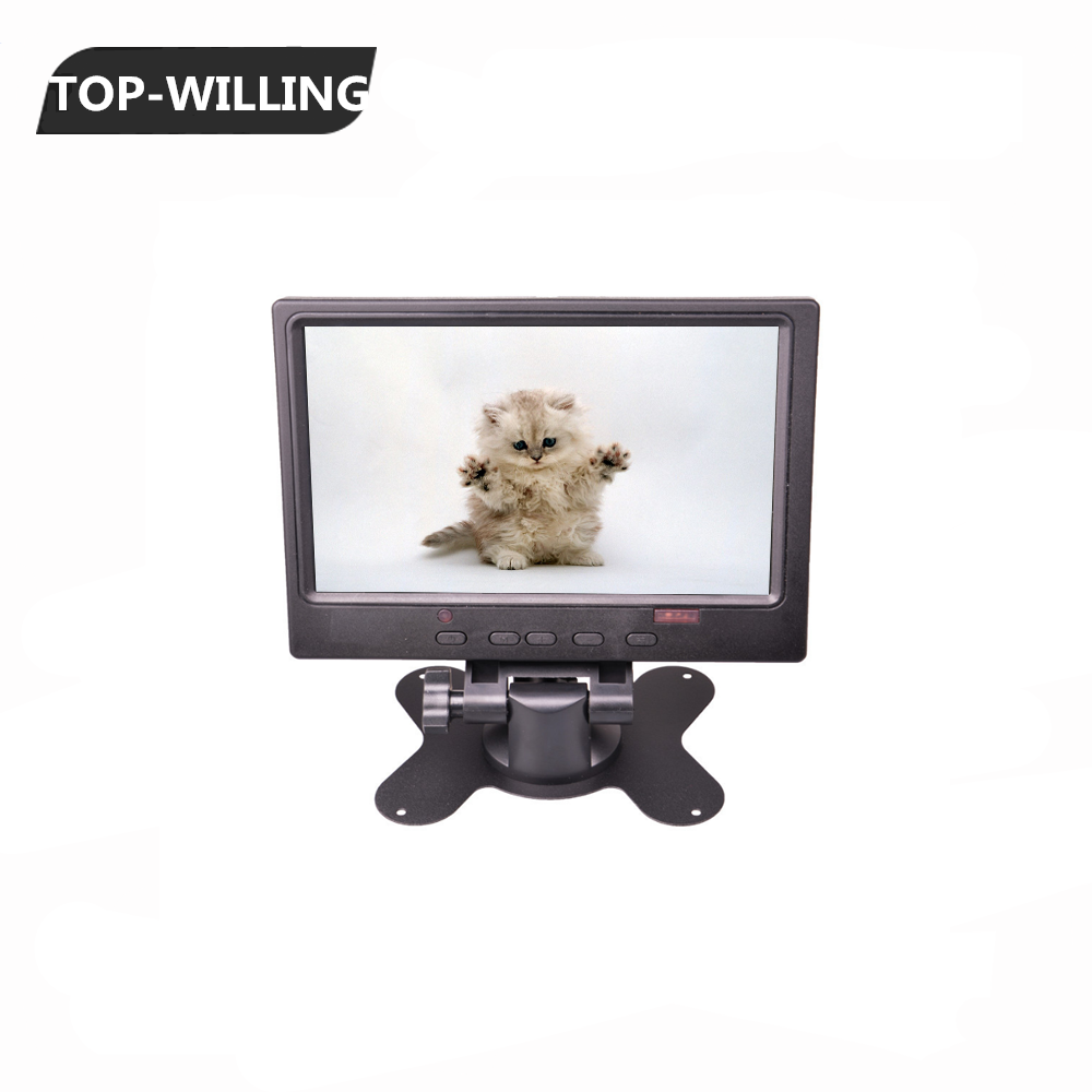 7'' TFT LED Monitor DVD Headrest Car Monitor 1024*768 Resolution DC 12V